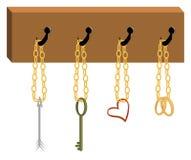 Armoire avec les outils du cupidon Image stock