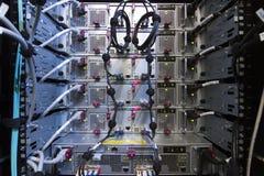 Armoire d'ordinateur, vue arrière Photographie stock libre de droits