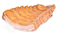 Armoire de nervure de porc fumée Photos stock