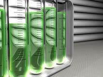 Armoire des tubes à essai d'analyse Images libres de droits