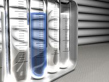 Armoire des tubes à essai d'analyse photos stock