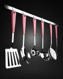 Armoire des ustensiles de cuisine Photos libres de droits