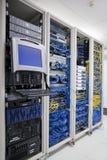 Armoires d'ordinateur de centre de traitement des données Photo stock