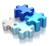 Armonía del azul del rompecabezas ilustración del vector