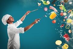Armonía musical de la comida Foto de archivo libre de regalías