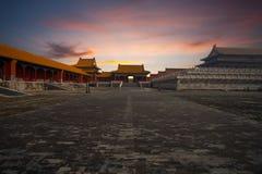Armonia suprema della città severa cancello di alba Fotografie Stock