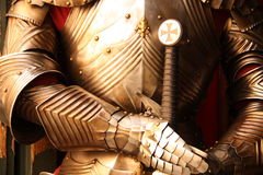 Armor. Ancient metal armor - iron detail Royalty Free Stock Photos