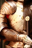 Armor. Ancient metal armor - iron detail Royalty Free Stock Photography