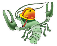 Armor arthropod cancer cartoon humor Royalty Free Stock Photos