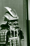 Armor of Asano (Aki) clan in black and white Stock Image