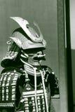 Armor of Asano (Aki) clan in black and white stock image