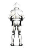 Armor back view isolated on white background.  3d rendering Stock Images