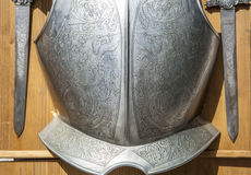 Armor breastplate, Toledo, Spain Royalty Free Stock Photos
