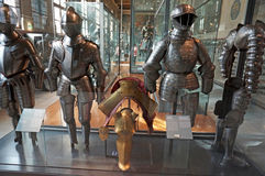 Armor Display at the Military Museum Royalty Free Stock Image