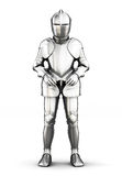 Armor front view isolated on white background. 3d rendering. Armor front view isolated on white background. Metal armor. Medieval armor. 3d rendering Stock Image