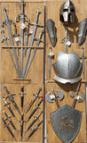Armor, knives, and swords, Toledo, Spain Stock Photos