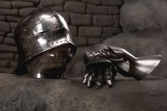 Armor of the medieval knight Stock Photography