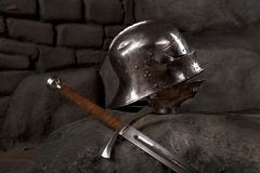 Armor of the medieval knight Stock Photos
