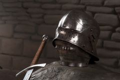 Armor of the medieval knight Stock Images