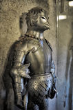 Armor of medieval knights at the museum Royalty Free Stock Photography