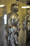 Armor of medieval knights at the museum. Medieval knights in armor museum, Golden Lane, Prague Royalty Free Stock Photography