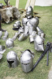 Armor medieval weapons Stock Image