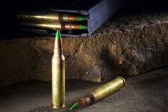 Armor piercing cartridges Royalty Free Stock Image