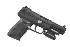 Armor Piercing Pistol Isolated op Wit Recht Als achtergrond royalty-vrije stock afbeeldingen