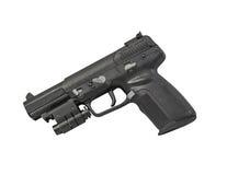 Armor Piercing Pistol Isolated op Witte Verlaten Achtergrond Royalty-vrije Stock Foto