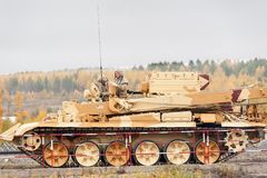 Armor recovery and evacuation vehicle BREM-1M Stock Image