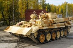 Armor recovery and evacuation vehicle BREM-1M Royalty Free Stock Photography