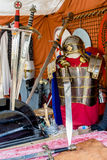 Armor and Roman swords Stock Photo