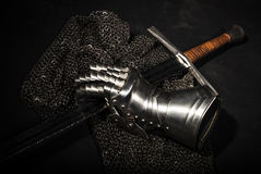 Armor and sword Royalty Free Stock Image