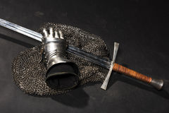 Armor and sword Stock Image