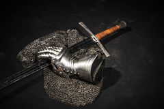 Armor and sword Stock Photo