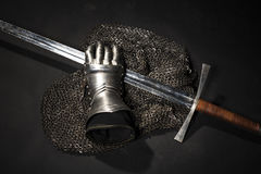 Armor and sword royalty free stock photos