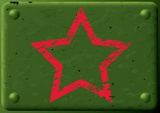 armored звезда плиты предпосылки Стоковое Фото