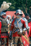 armored рыцари Стоковые Фотографии RF