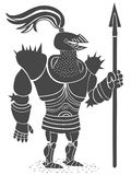 Armored рыцарь с пикой иллюстрация вектора