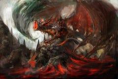 armored дракон Стоковая Фотография