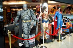 Armored Batman, Wonder Woman and Superman Royalty Free Stock Photos