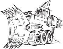 Armored Bulldozer Vehicle Sketch Royalty Free Stock Photography