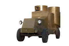 Armored car. Old Russian armored vehicle. Armored car Stock Image