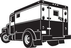 Armored Car. Line Art Illustration of an Armored Car Royalty Free Stock Photos