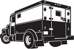 Armored Car. Line Art Illustration of an Armored Car stock illustration
