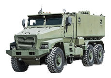 Armored Car enhanced security for the transportation of personne Stock Photo