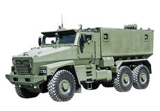 Armored Car enhanced security for the transportation Stock Image