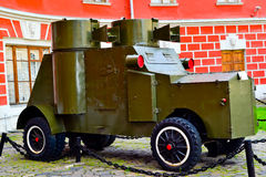 Armored car. During the first world war stock photography