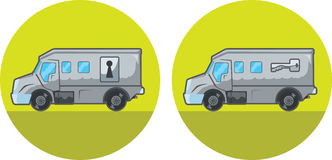 Armored car icon Stock Images