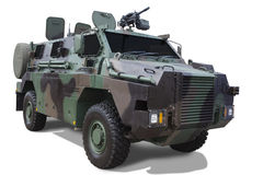 Armored car with machine gun Royalty Free Stock Images